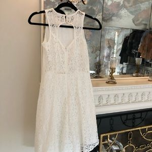 Excellent condition white lace sleeveless dress
